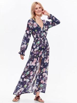 e23c1a07c5a Top Secret šaty dámské dlouhé MAXI květované s dlouhým rukávem ...