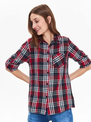 Top Secret Košile dámská kostkovaná s 3 4 rukávem – Dressention.cz 94d535c0a0