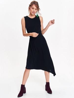 Top Secret Šaty dámské černé s asymetrickým lemem bez rukávu ... 69ed4387b9